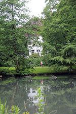 Von-Eicken-Villa, Teich, Park: Auch heute noch ein schönes Ensemble
