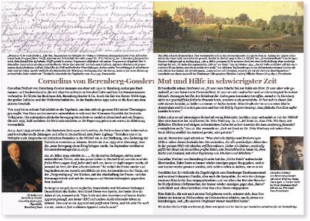 Faltblatt herausgegeben anlässlich der Feierstunde zur Einweihung des Gedenkorts Berenberg-Gossler im Niendorfer Gehege am 14. Februar 2016