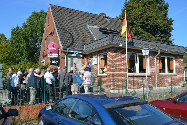 """Hier endete die Straßenbahn und der Kiosk war ein beliebter Treffpunkt, sozusagen eine """"Nachrichtenbörse"""". Foto: Axel Thiemann"""
