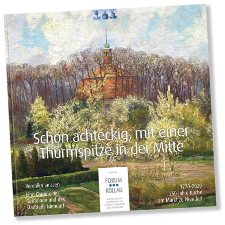 """""""Schön achteckig, mit einer Thurmspitze in der Mitte"""" – 250 Jahre Kirche am Markt zu Niendorf – Eine Chronik der Gemeinde und des Stadtteils. Auf das Bild klicken, um mehr zu erfahren …"""